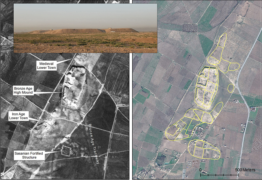 Fig. 2: Satellite remote sensing datasets at Site 129 Tell Abu Shita (Ur 2013–2014)