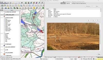 Fig. 2: A view of our project GIS, using the QGIS software (Madry et al. 2012–2013)