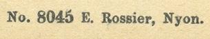 E. Rossier Credit Line