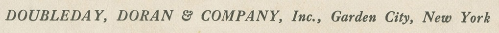 Doubleday, Doran & Company Credit Line