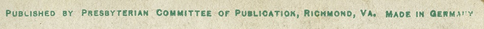 Presbyterian Committee of Publication Credit Line