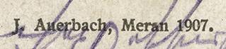J. Auerbach Credit Line