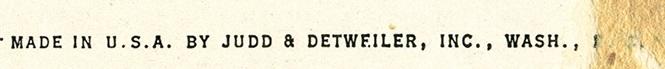 Judd and Detweiler, Inc., Credit Line
