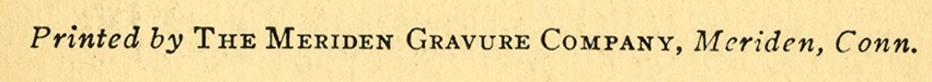Meriden Gravure Company Credit Line