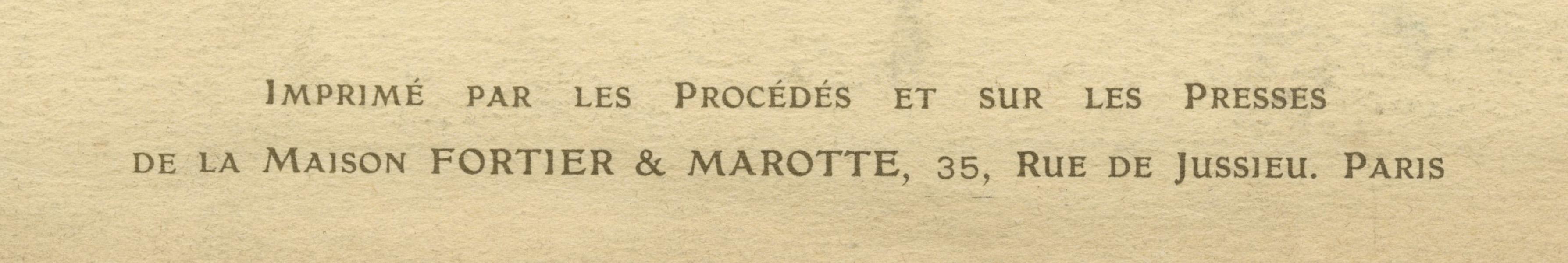 Maison Fortier et Marotte Credit Line