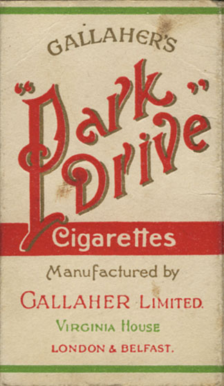 Park Drive Cigarettes by Gallaher, Ltd. Packet