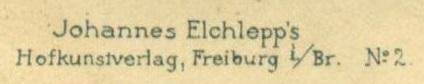 Johannes Elchlepp's Hofkunstverlag Credit Line