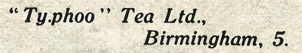 Ty-Phoo Tea Advertising Information