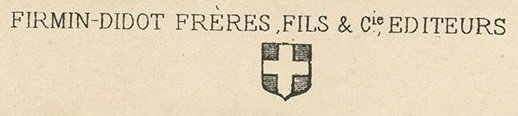 Firmin-Didot Frères, Fils, et Cie Publisher Credit Line and Logo