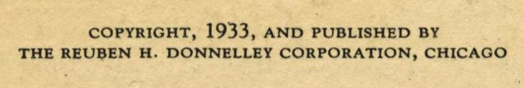 Reuben H. Donnelley Corporation Credit Line and Copyright