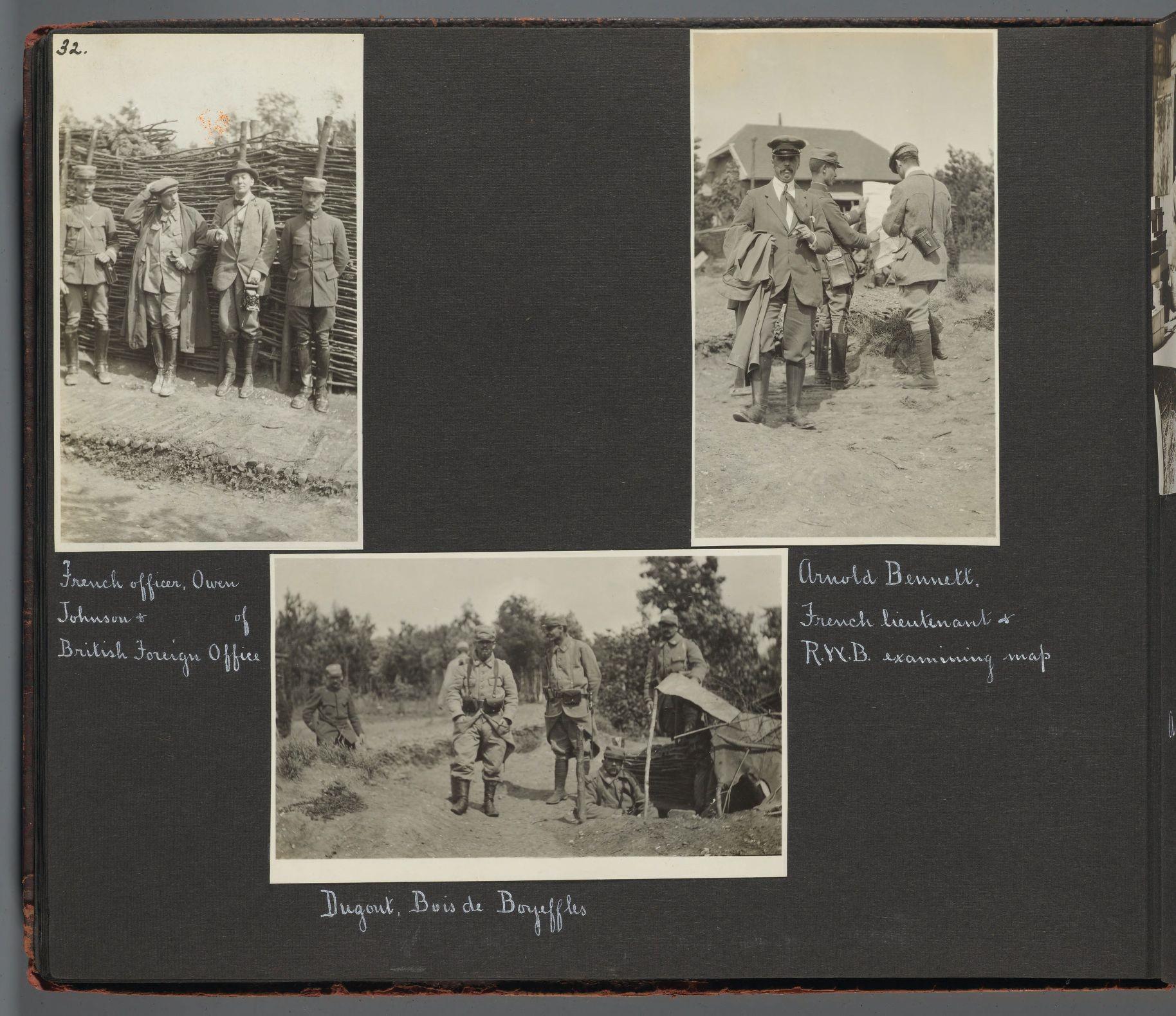 Robert Woods Bliss inspecting battlefields, Boyeffles.
