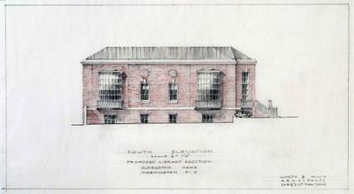 Frederic Rhinelander King, South Elevation. Dumbarton Oaks Archives, AR.AD.MW.GL.002