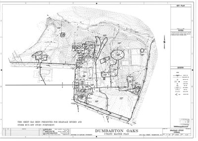 Wiles Mensch Corporation, Dumbarton Oaks Utility Master Plan, Drainage Study Overeall. Dumbarton Oaks Archives, AR.AP.GG.SP.36.017