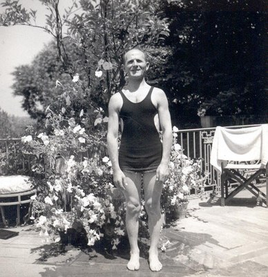 Unidentified Man at the Dumbarton Oaks Swimming Pool. AR.PH.Misc.029