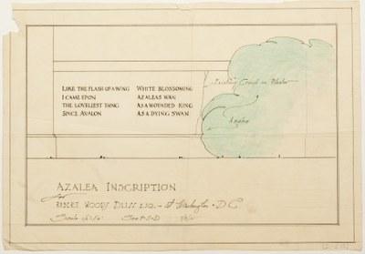 Azalea Inscription (Model for the Full Scale Drawing), Garden Archives, GD I-2-15.