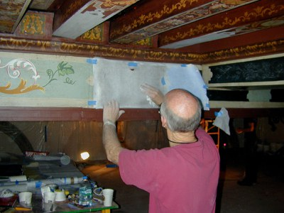 Restoration of Music Room Ceiling Using Templates, 2007