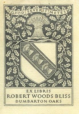 Robert Woods Bliss's Ex Libris Bookplate