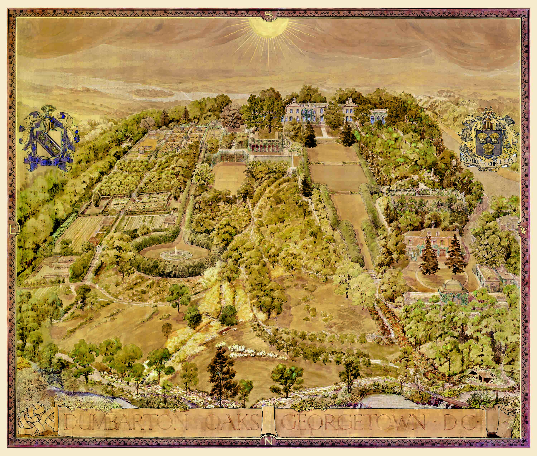 Ernest Clegg, Map of the Dumbarton Oaks Gardens, 1935. Dumbarton Oaks House Collection, HC.P.1935.01.(I).
