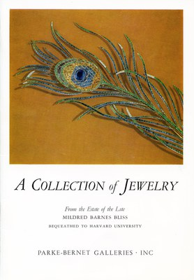 Auction Catalogue with a Detail of the Peacock Feather Brooch, no. 54.