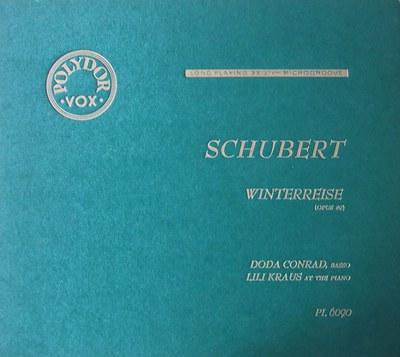 Winterreise, Doda Conrad and Lili Kraus, 1950. (Dumbarton Oaks Archives)