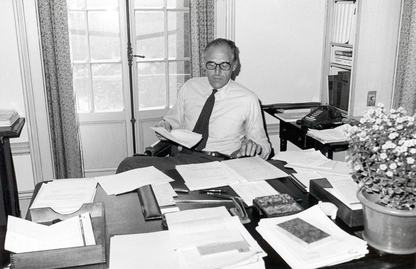 Giles Constable in the Director's Office, ca. 1978
