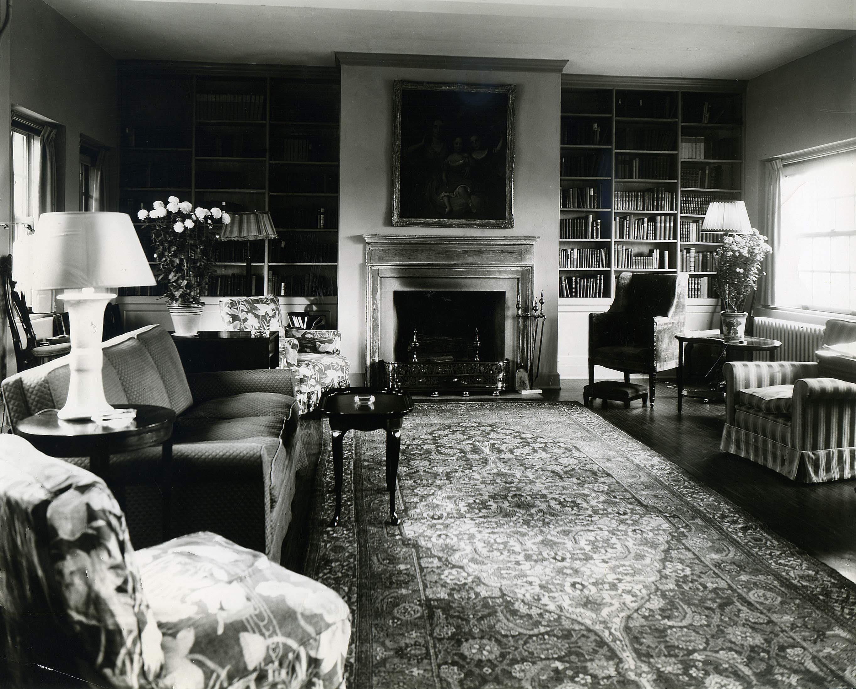 Fellows Building Living Room, 1953