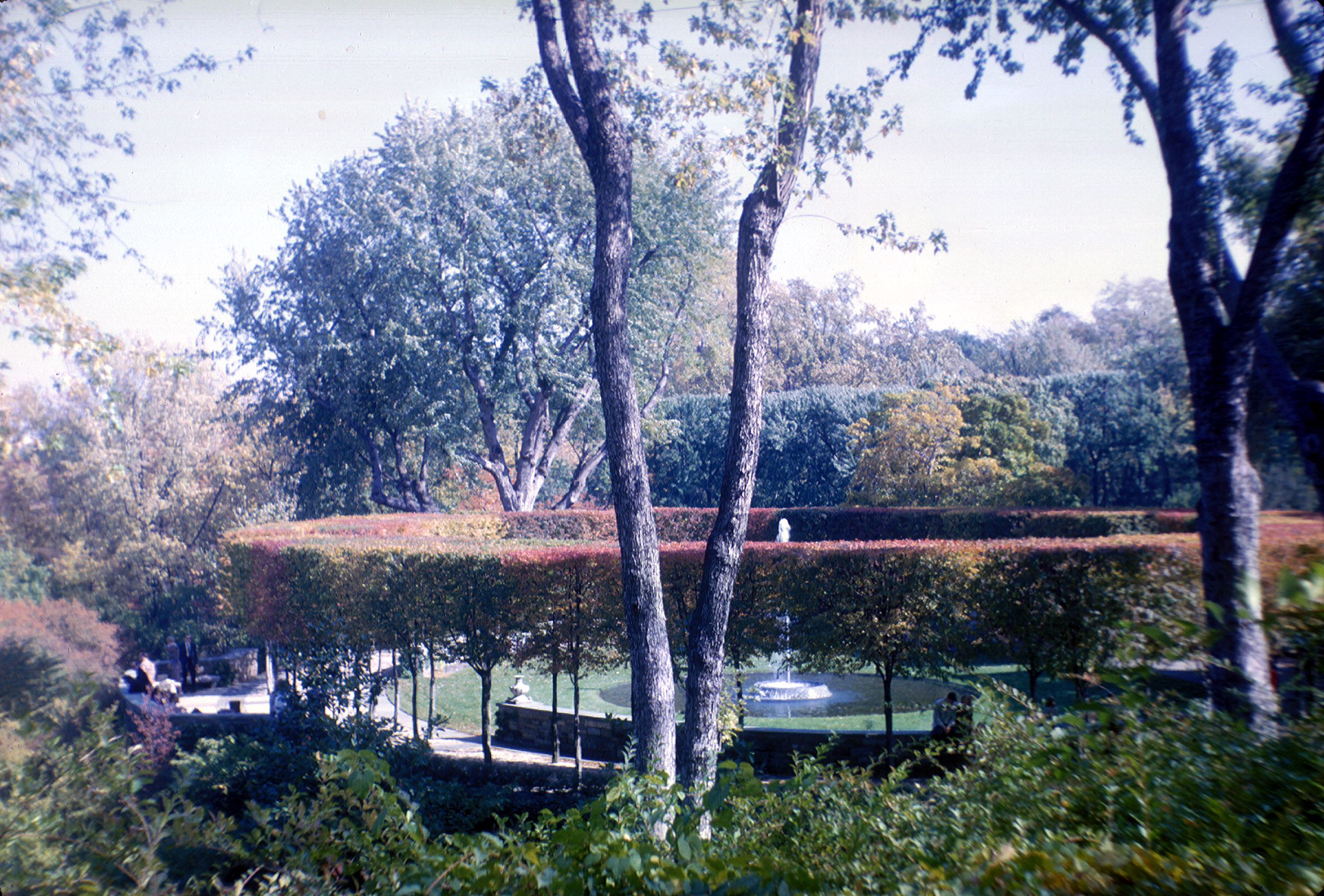 Image of the Griswold-designed moats and water feature in the Ellipse, ca. 1960-1967
