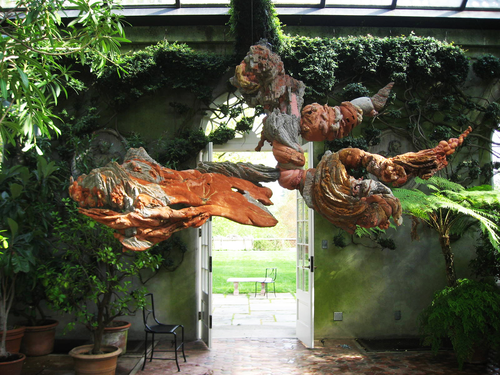 "The artist Charles Simonds added his own ""ghosts"" at Dumbarton Oaks in 2009"