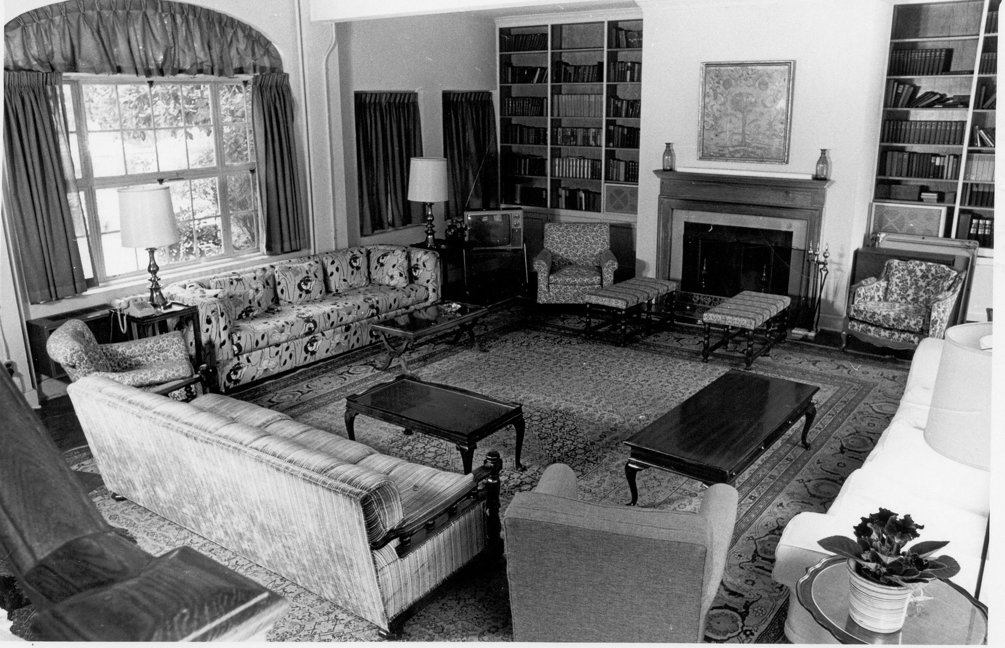 Fellows Building Living Room, 1977-78