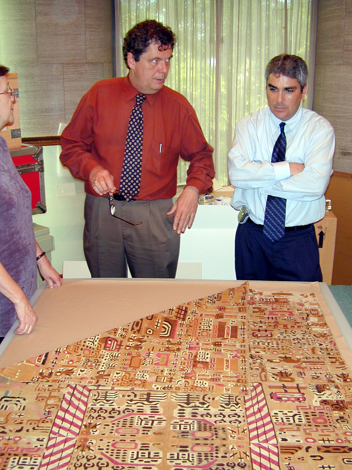 Jeffrey Quilter and Juan Antonio Murro in the Pre-Columbian Collection