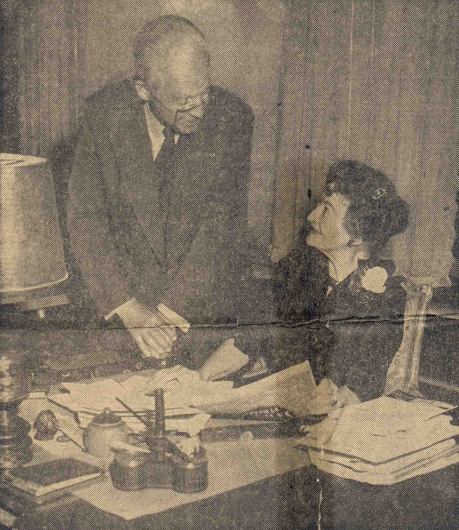 Mildred and Robert Woods Bliss in the Founders Room, 1956 (Sunday Star, March 2, 1956)