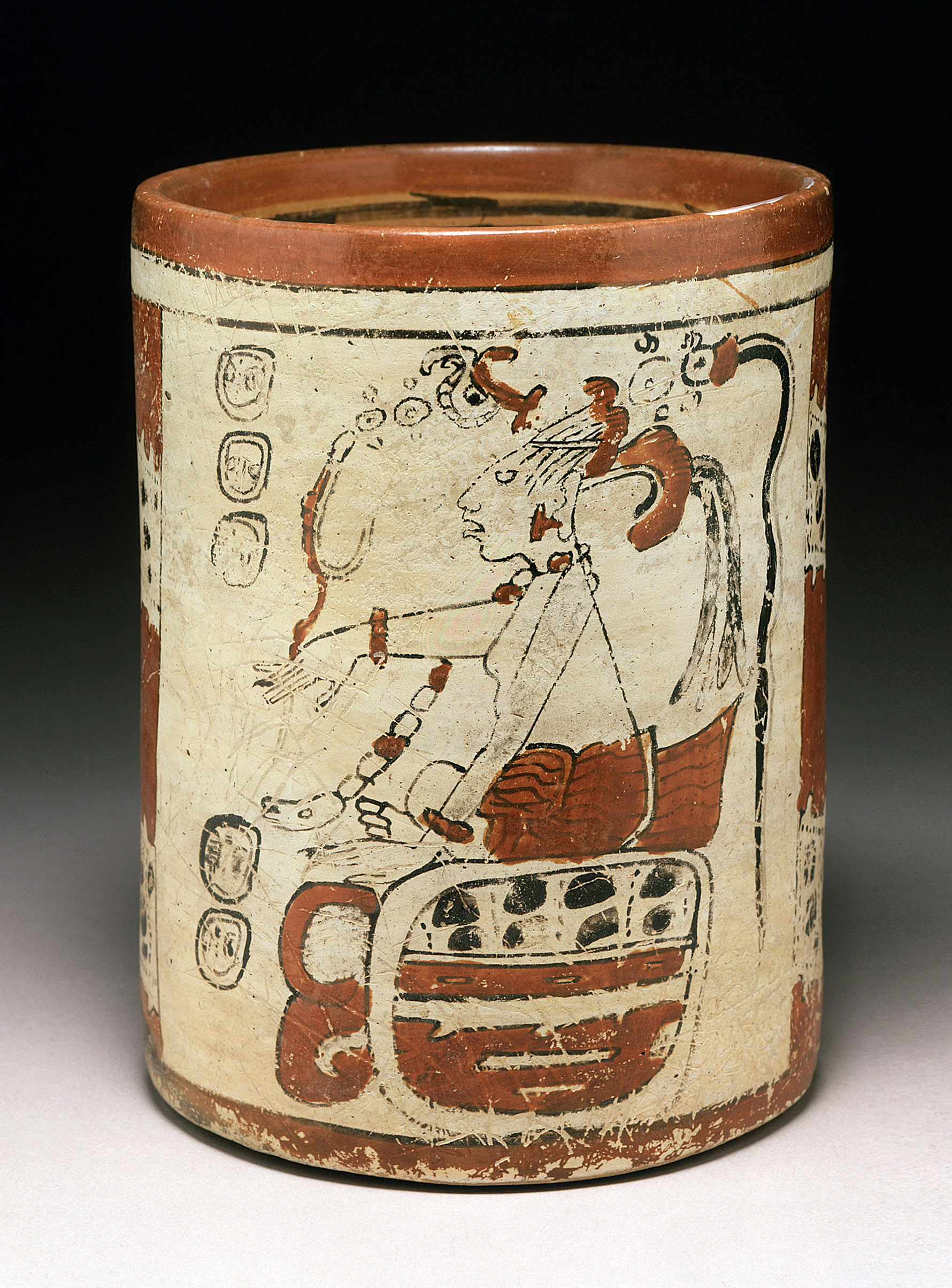 Maya polychrome ceramic