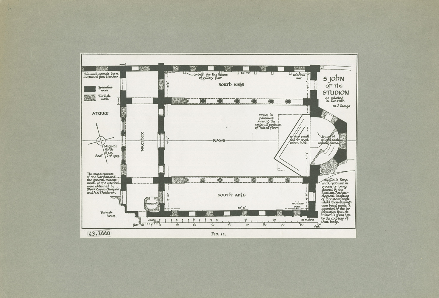 Research Archives: Monastery of St. John of Studios, ground plan