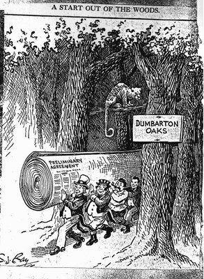 Cartoon by S.J. Ray, Published in the Kansas City Star on August 1, 1944