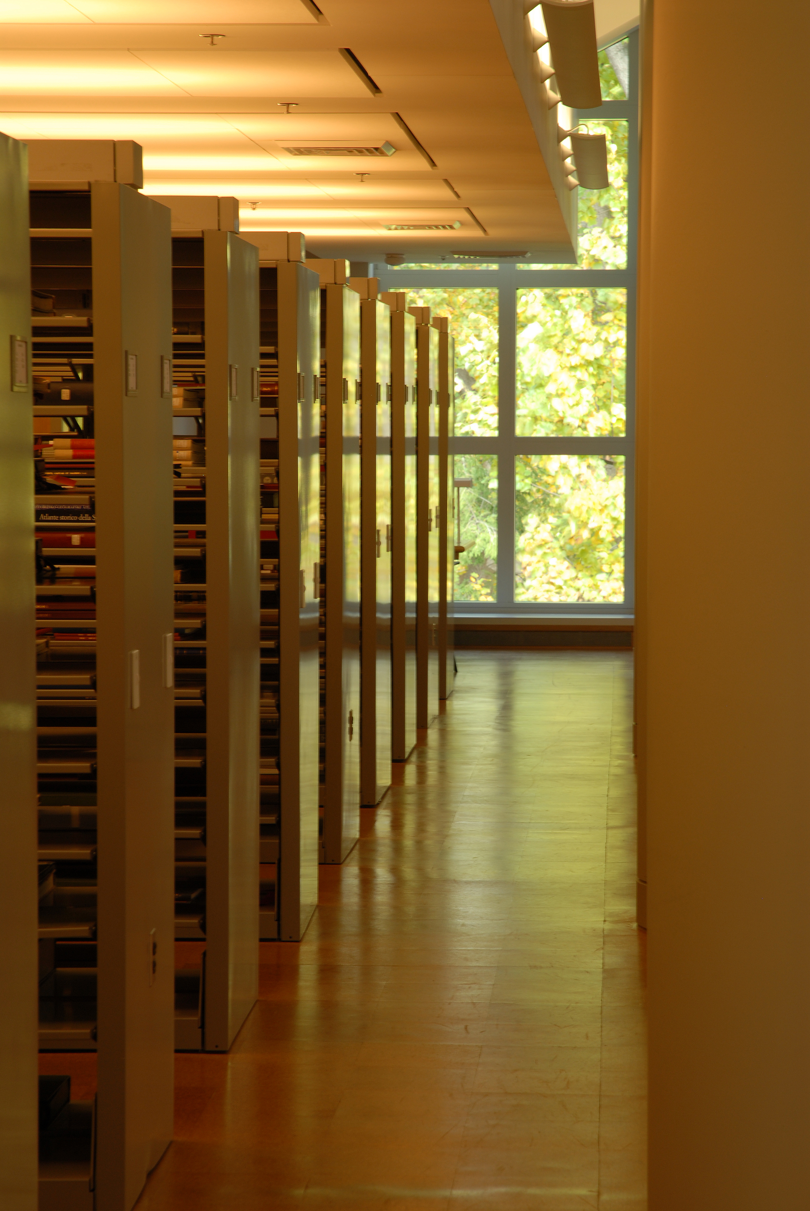 Stacks in new Research Library