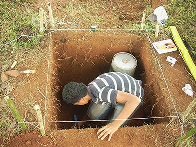 Fig. 6: Test excavation in the central area of El Gavilán (Geurds 2009–2010)