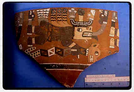 Fig. 4: Painted ceramic fragment from Conchopata (Cook and Isbell 2000–2001)