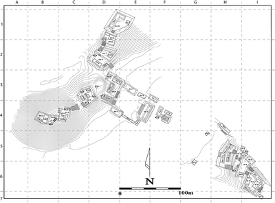 Fig. 2: Map of Tecolote as of 2004 (Golden et al. 2004–2005)