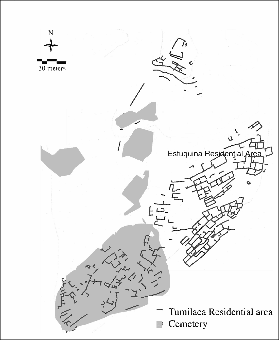 Fig. 2: The site of Tumilaca la Chimba (Williams et al. 2006–2007)