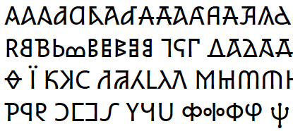 Selection of variant Greek letters in Athena Ruby