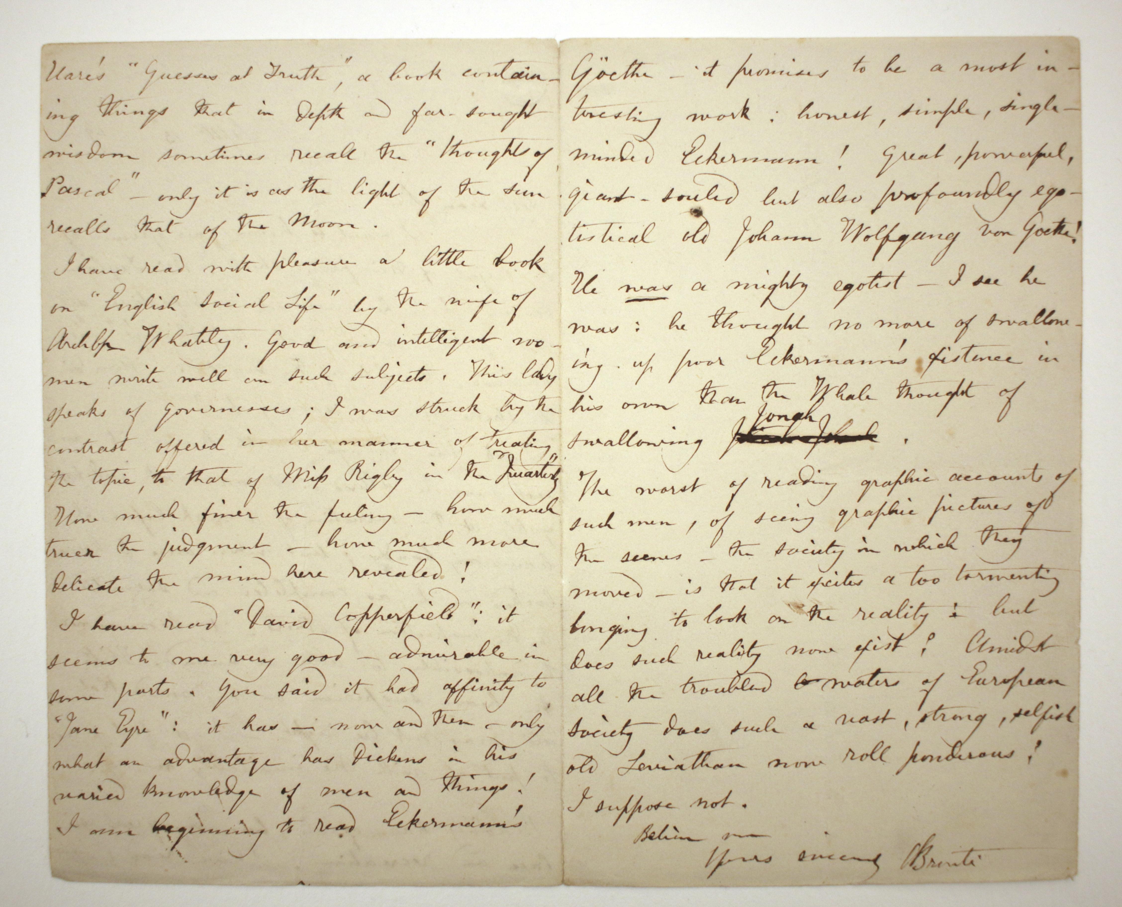 Brontë Letter, September 13, 1849, 2