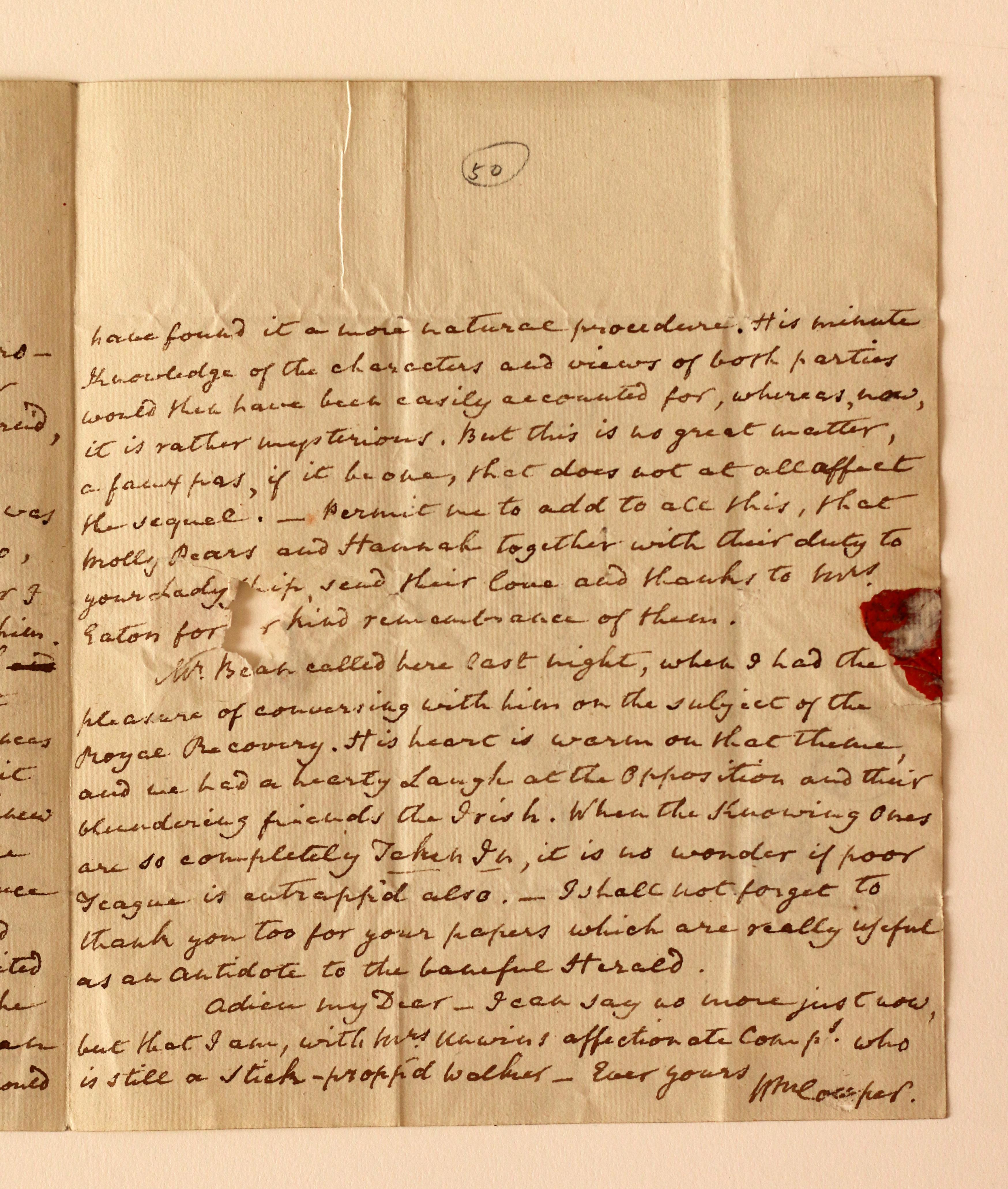 Cowper Letter 3