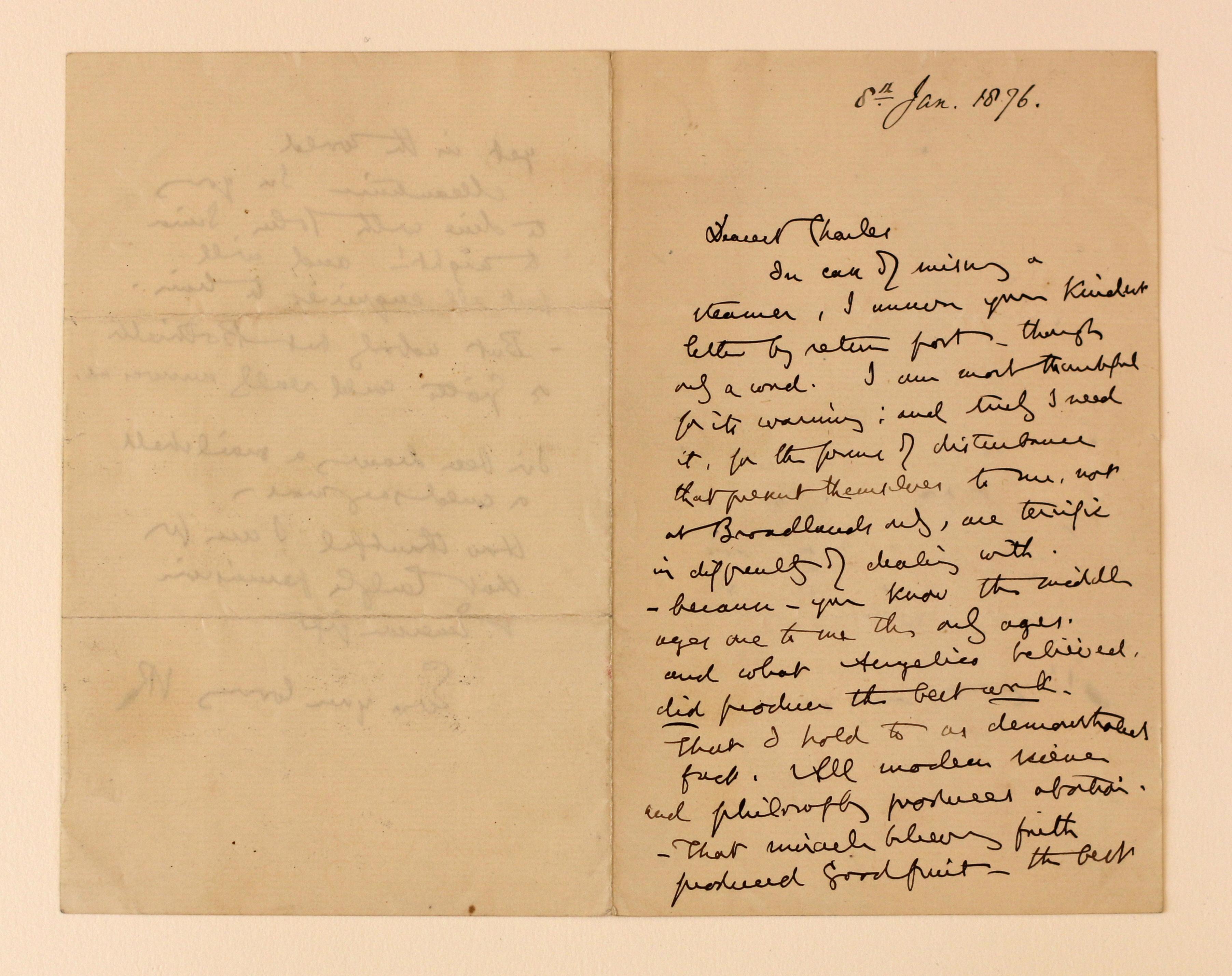 Ruskin Letter 1