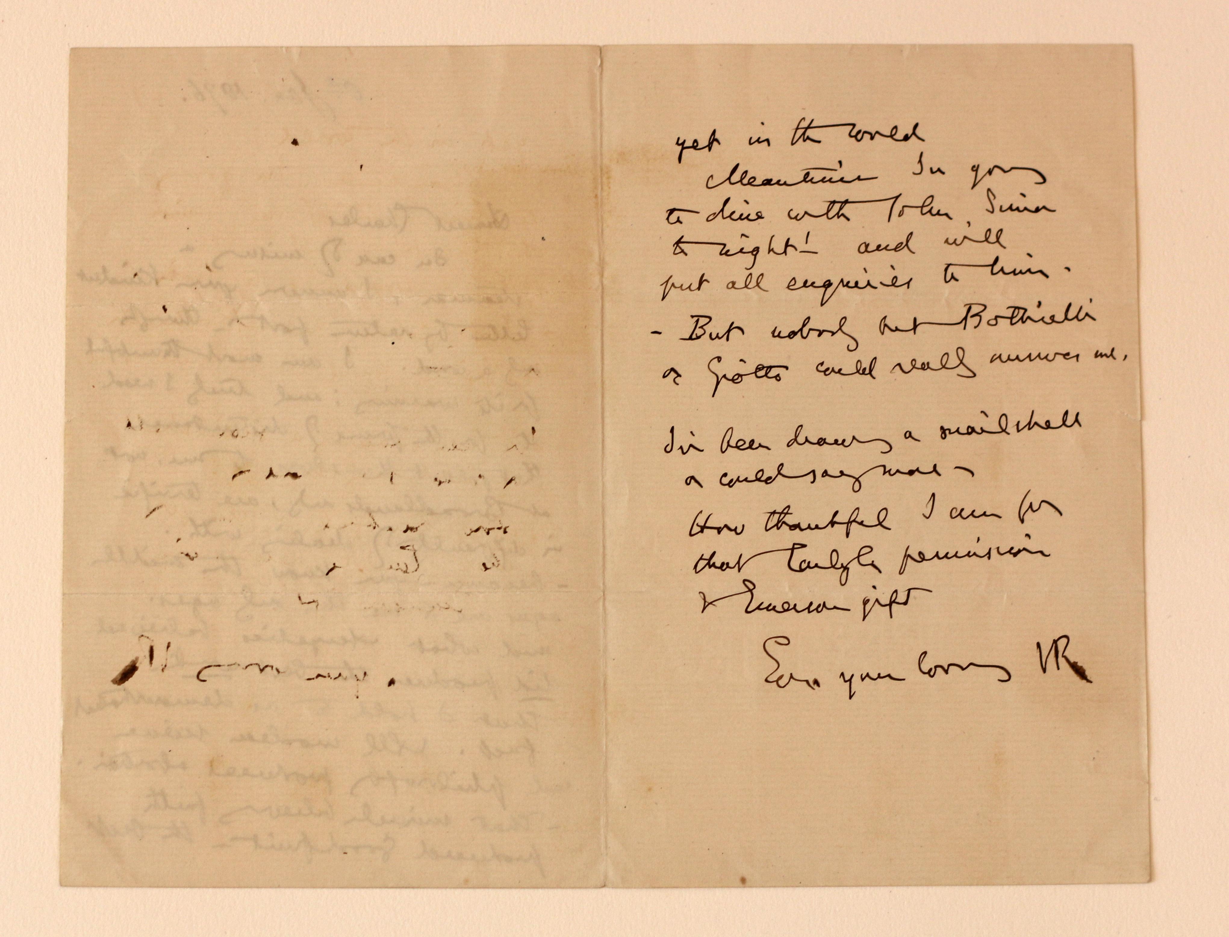 Ruskin Letter 2