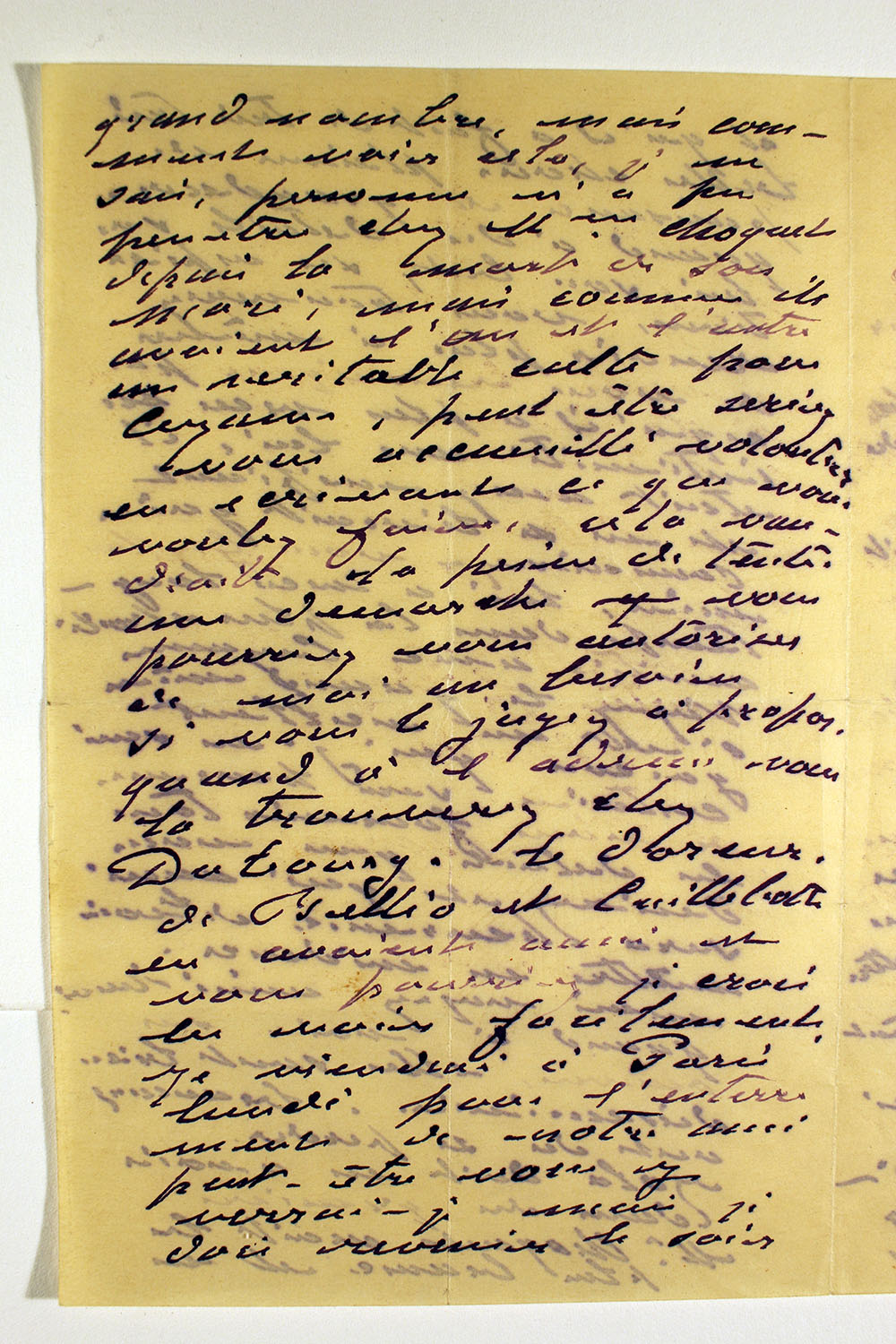 Page three of letter from Claude Monet to unknown recipient, February 24, 1894