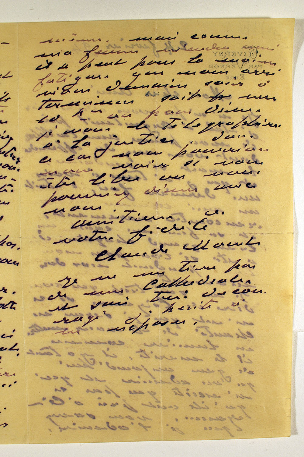 Page four of letter from Claude Monet to unknown recipient, February 24, 1894