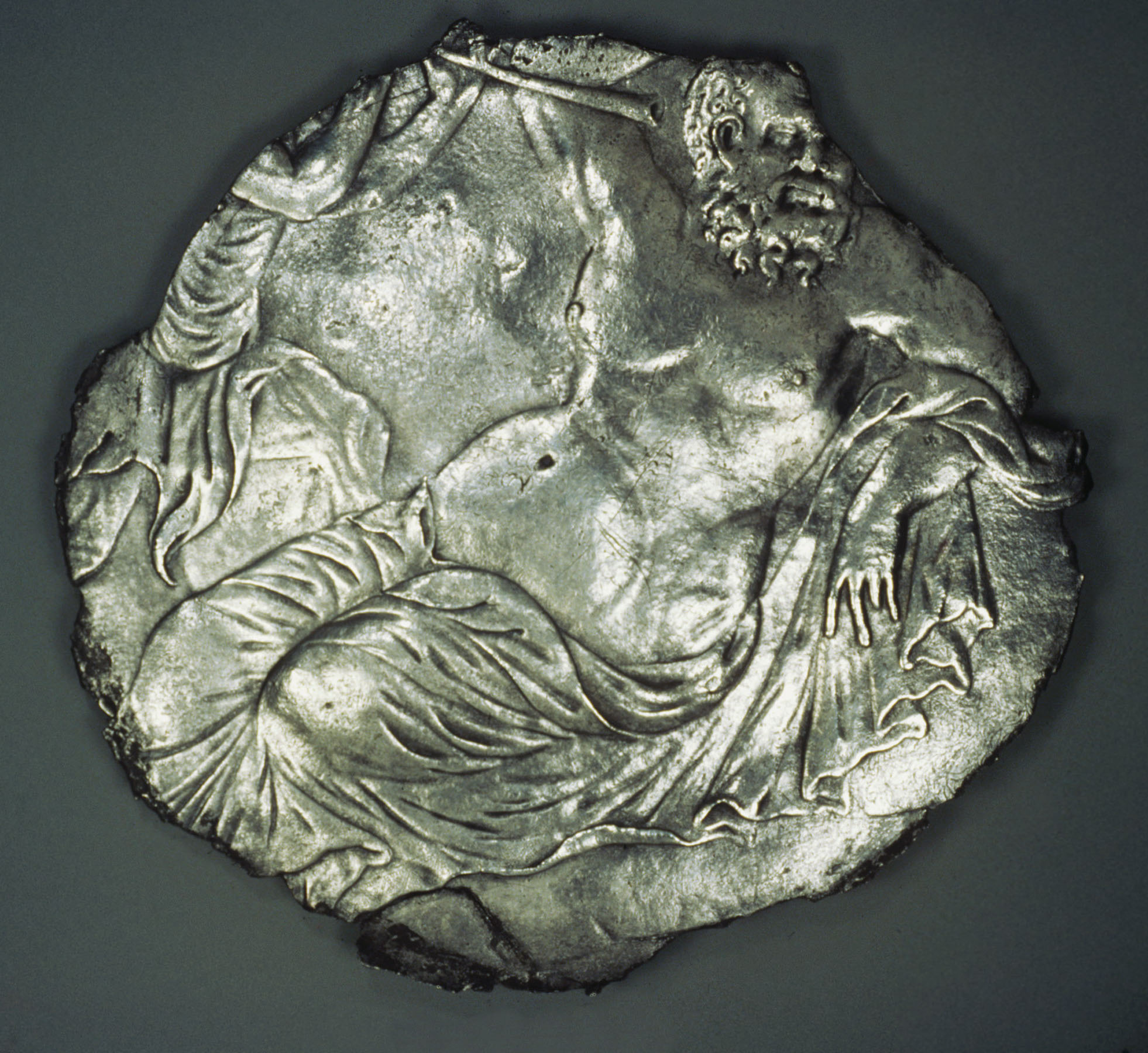 BZ.1951.20, Plate Fragment with Silenus