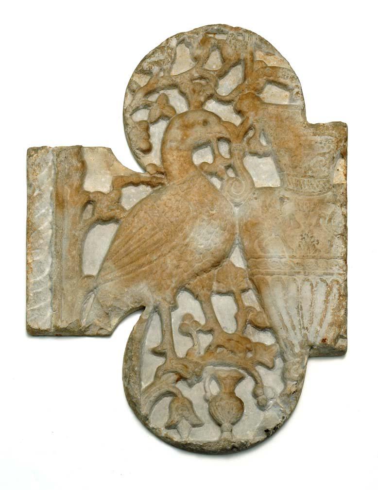 BZ.1936.19, Peacock Relief Sculpture