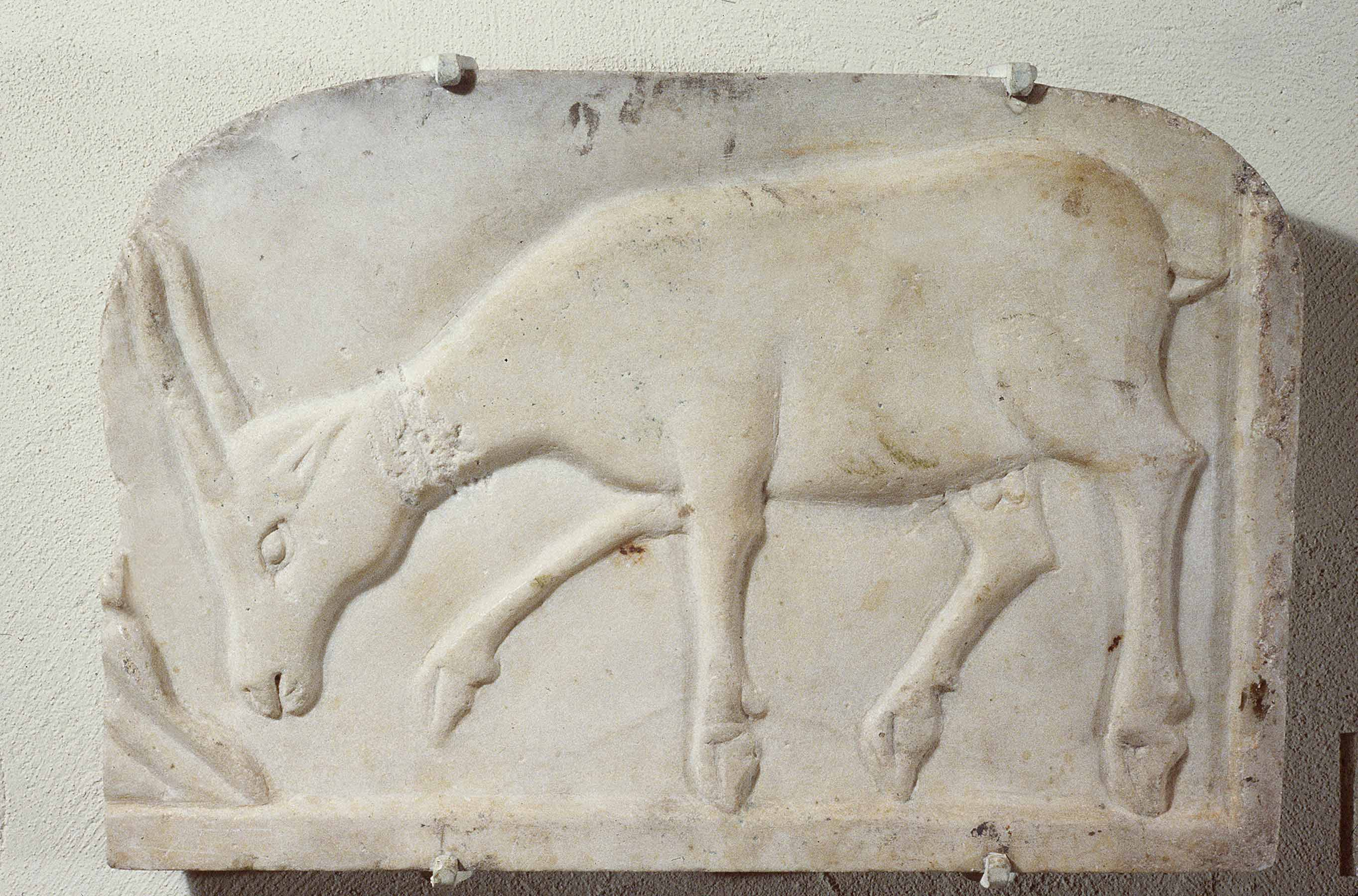 BZ.1936.44, Antelope Relief Sculpture