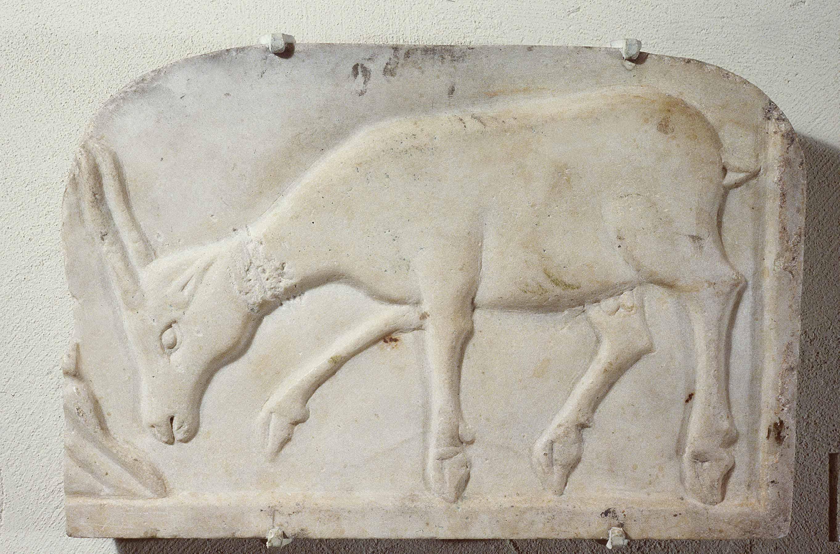 BZ.1936.44, Antelope Relief Sculpture